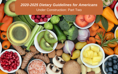 2020-2025 Dietary Guidelines for Americans: An Informed Look at DGAC Report Translation to Policy (Part II)
